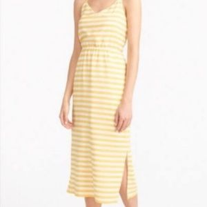 J Crew silk stripped sleeveless dress